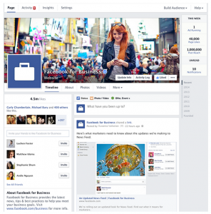 Both Admin functionality and overall design changes available with the new Facebook Business Pages.