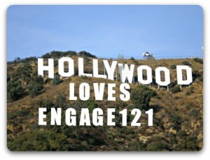 Hollywood sign enhanced with PicMonkey